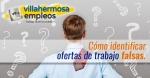 Como identificar ofertas de trabajo falsas